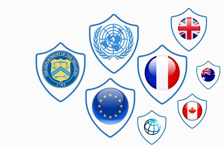 liste de gel et sanctions
